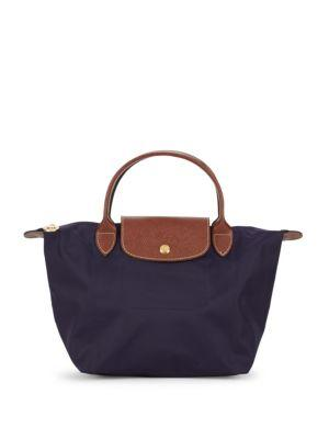 Longchamp Le Pilage Zipped Handbag In Bilberry