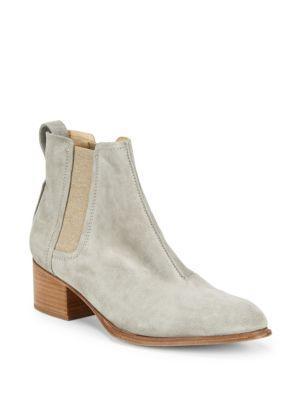 Rag & Bone Walker Ii Almond Toe Leather Booties In Cement