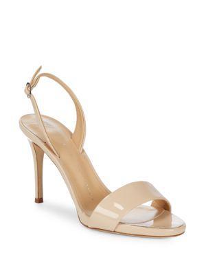 Giuseppe Zanotti Leather Slingback Sandals In Ballerina