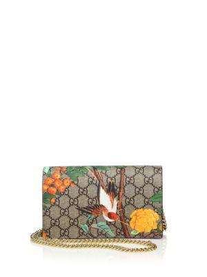 Gucci Tian Mini Chain Bag In Beige-multi