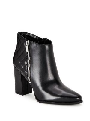 Ivanka Trump Rilee Point Toe Leather Ankle Boots In Black