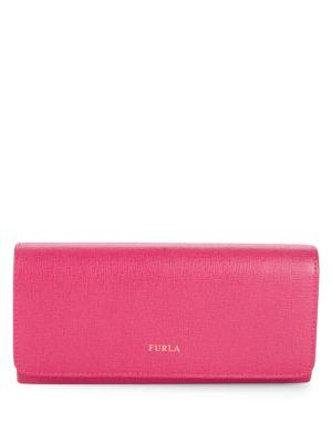 Furla Logo Leather Continental Wallet In Gloss