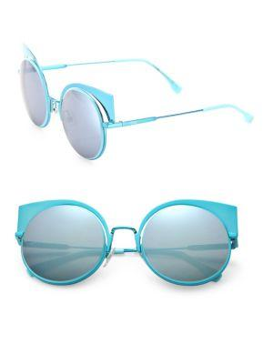 a8883ba5d20f Fendi 53Mm Mirrored Cat S-Eye Sunglasses In Aqua