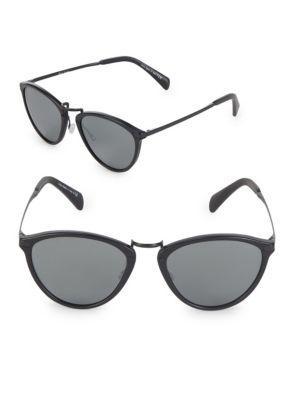 Paul Smith Hawley 54mm Oval Sunglasses In Orange