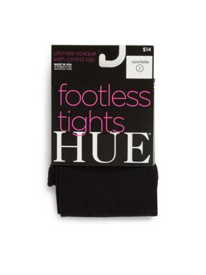 Hue Opaque Footless Tights In Black