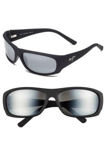 Maui Jim 'ikaika - Polarizedplus2' 64mm Sunglasses - Matte Black Grey