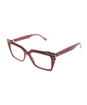 Fendi Ff0262 C9a Red Square Eyeglasses