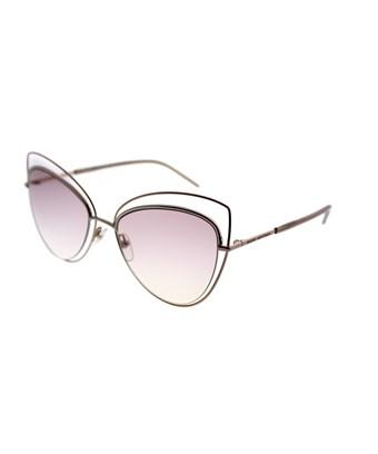 Marc Jacobs Women's Floating Cat Eye Sunglasses, 56mm In Gold/pink Gradient Lens