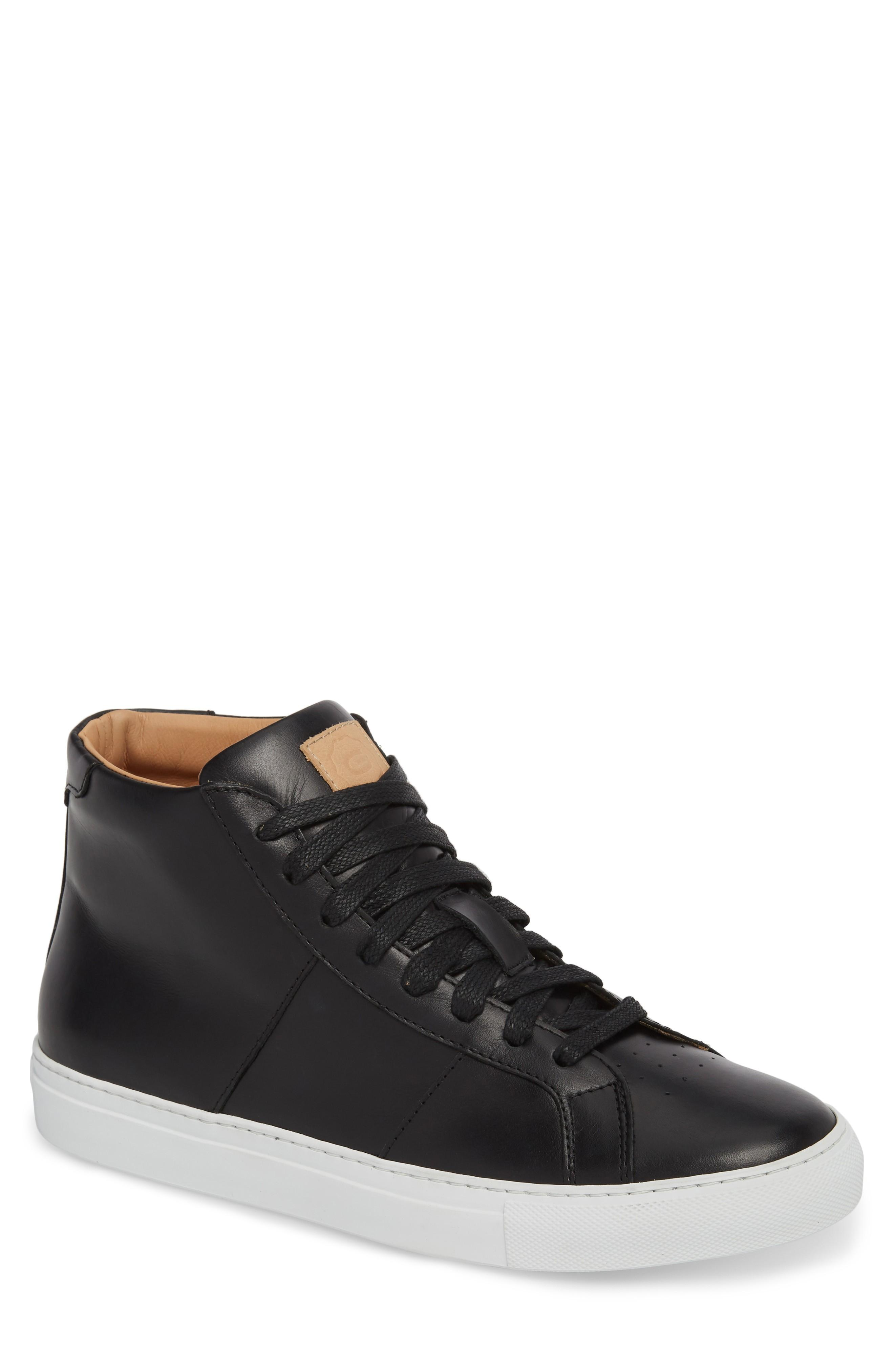 Greats Royale High Top Sneaker In Black Leather
