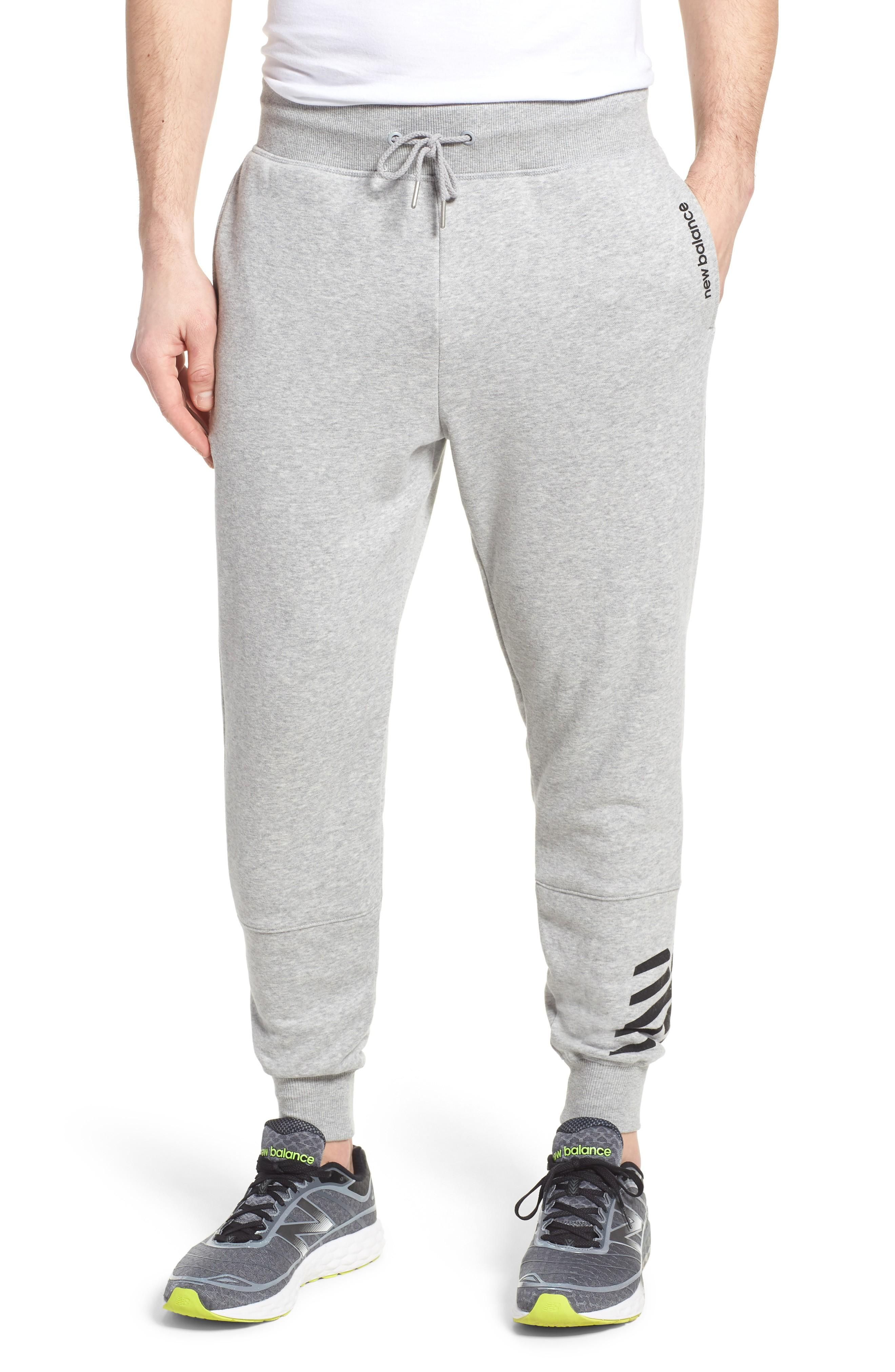 New Balance Essentials Jogger Pants In Athletic Grey