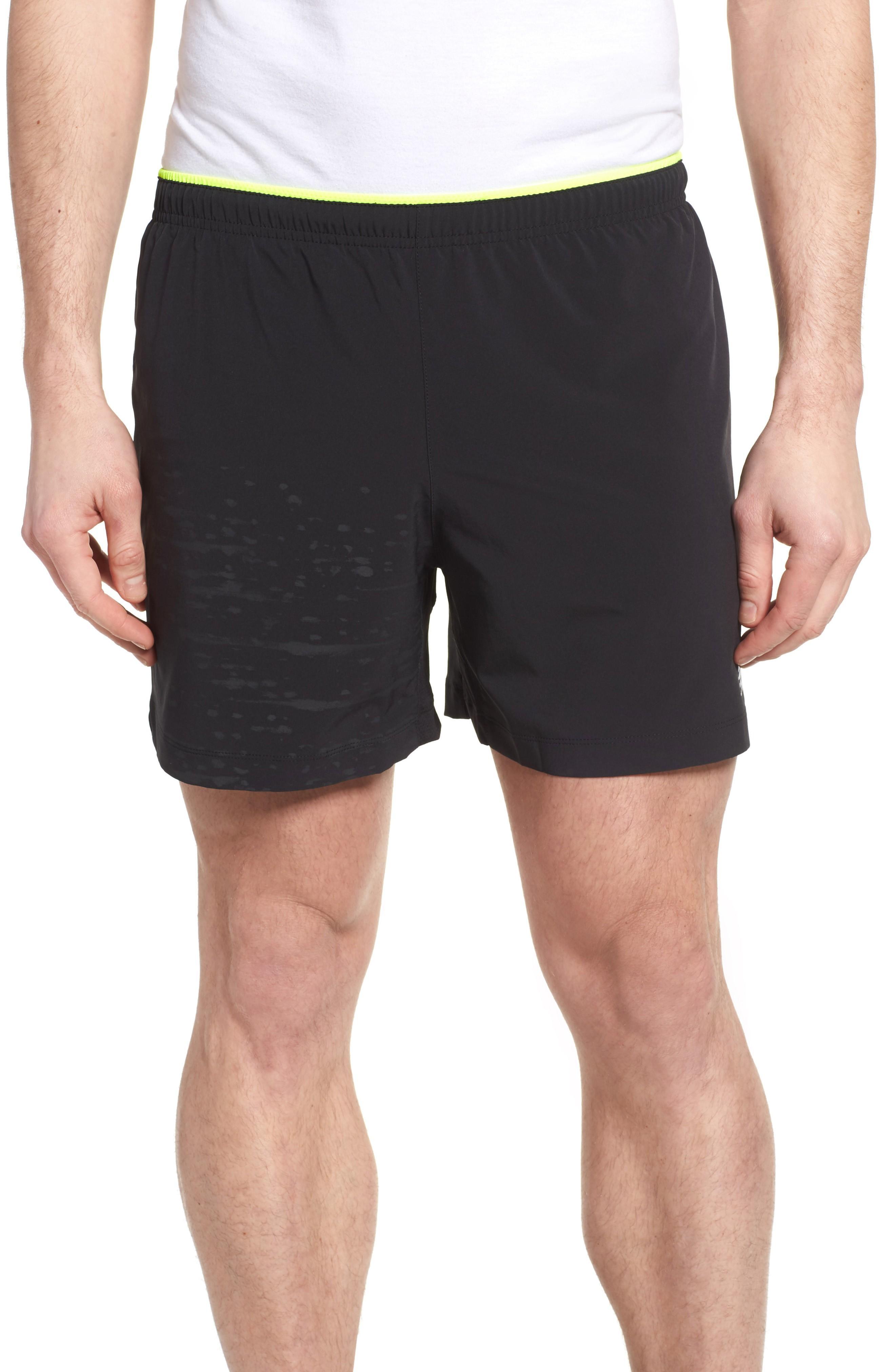New Balance Impact Shorts In Black Multi