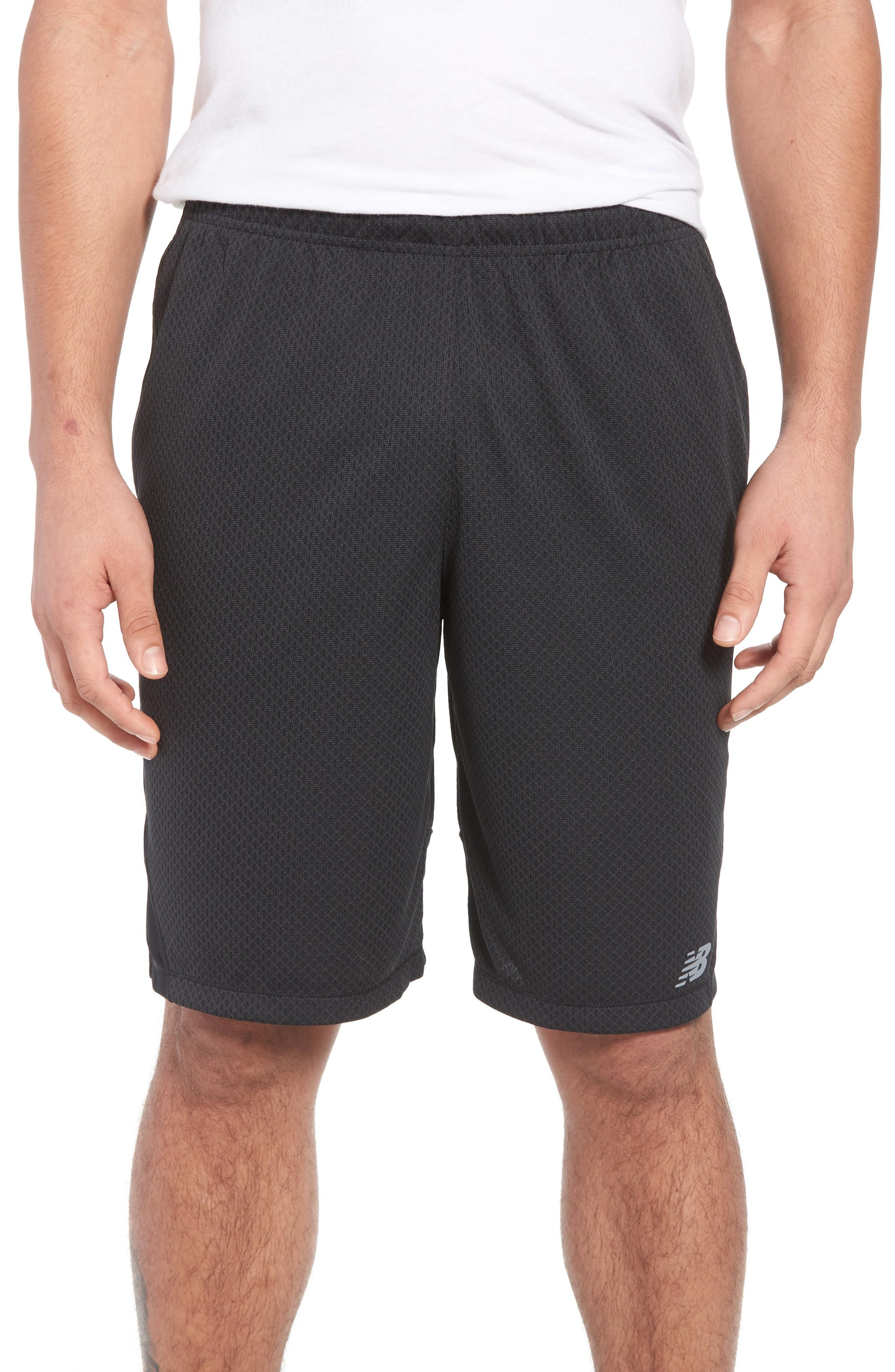 New Balance Tencity Knit Shorts In Black