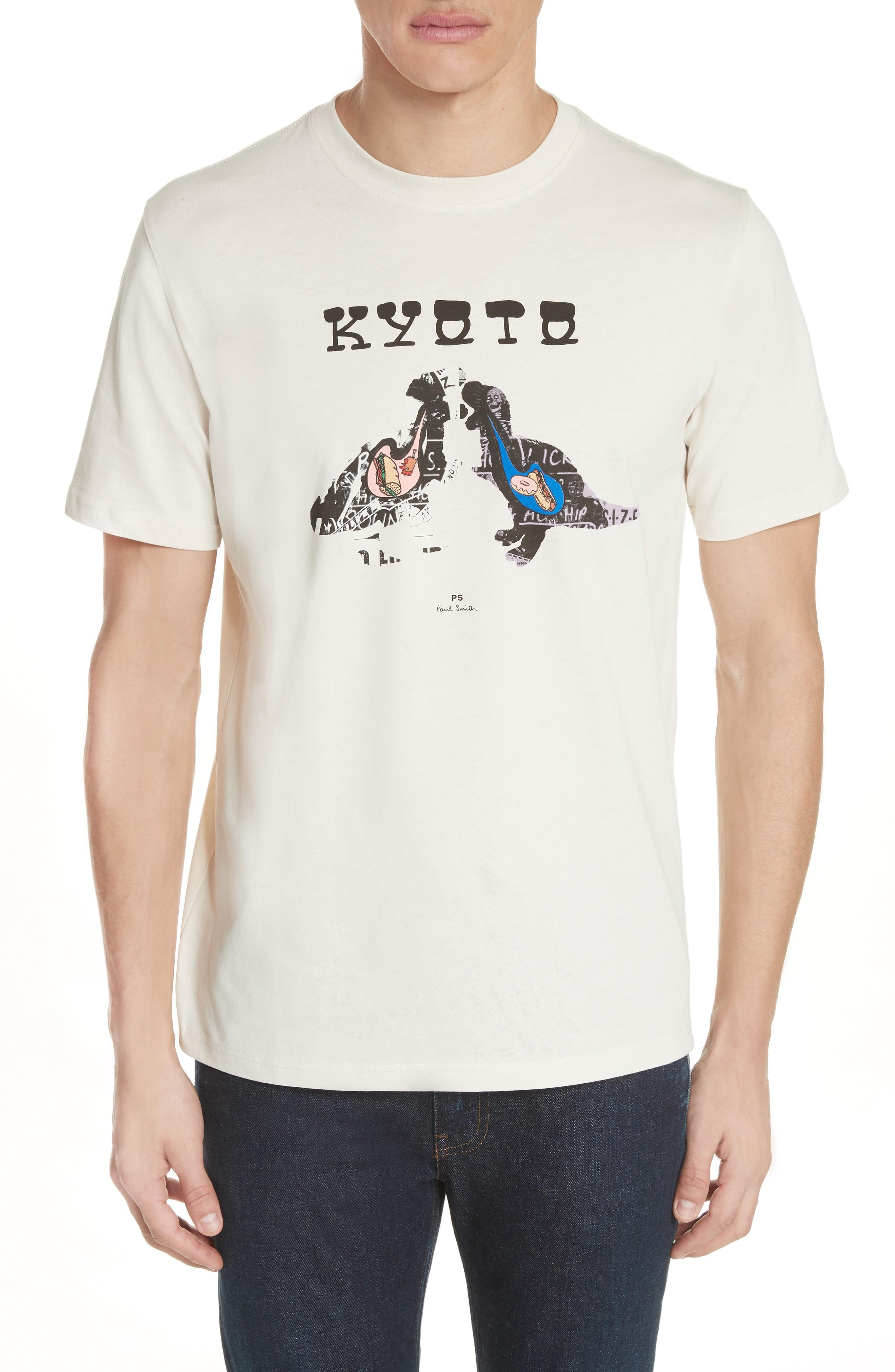 Ps By Paul Smith Kyoto Graphic T-shirt In Natural