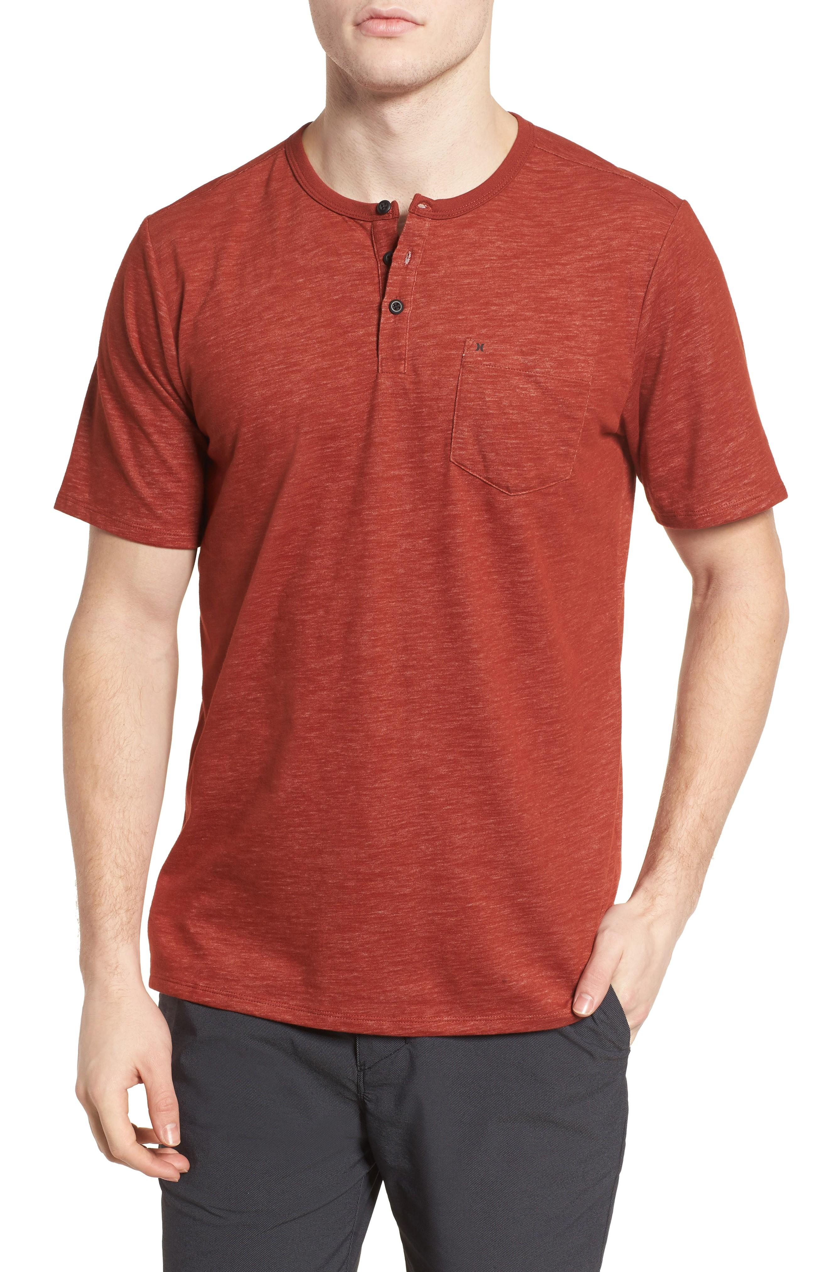 Hurley Dry Lagos Henley In Mars Stone