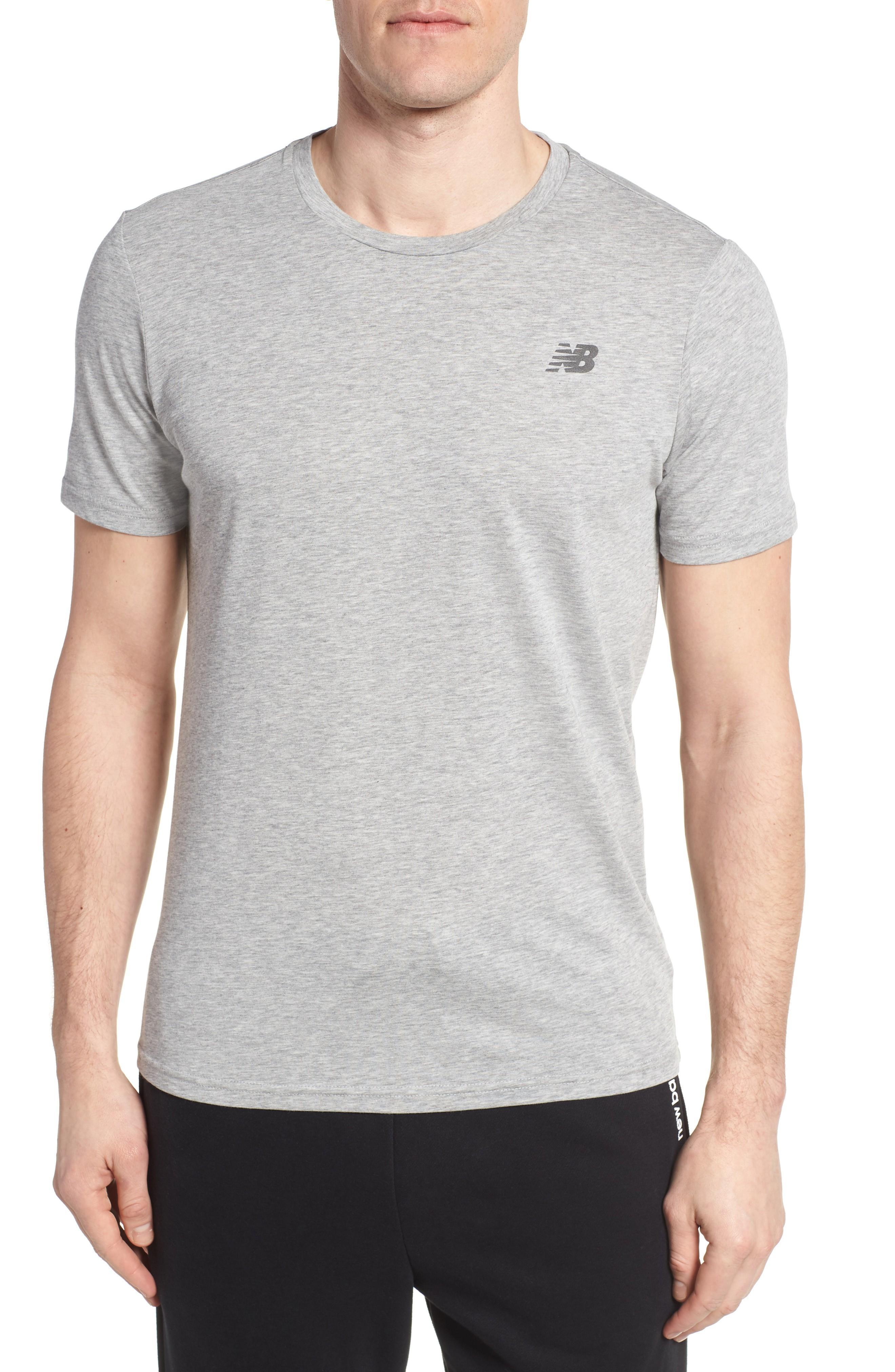 New Balance Heather Tech Crewneck T-shirt In Athletic Grey