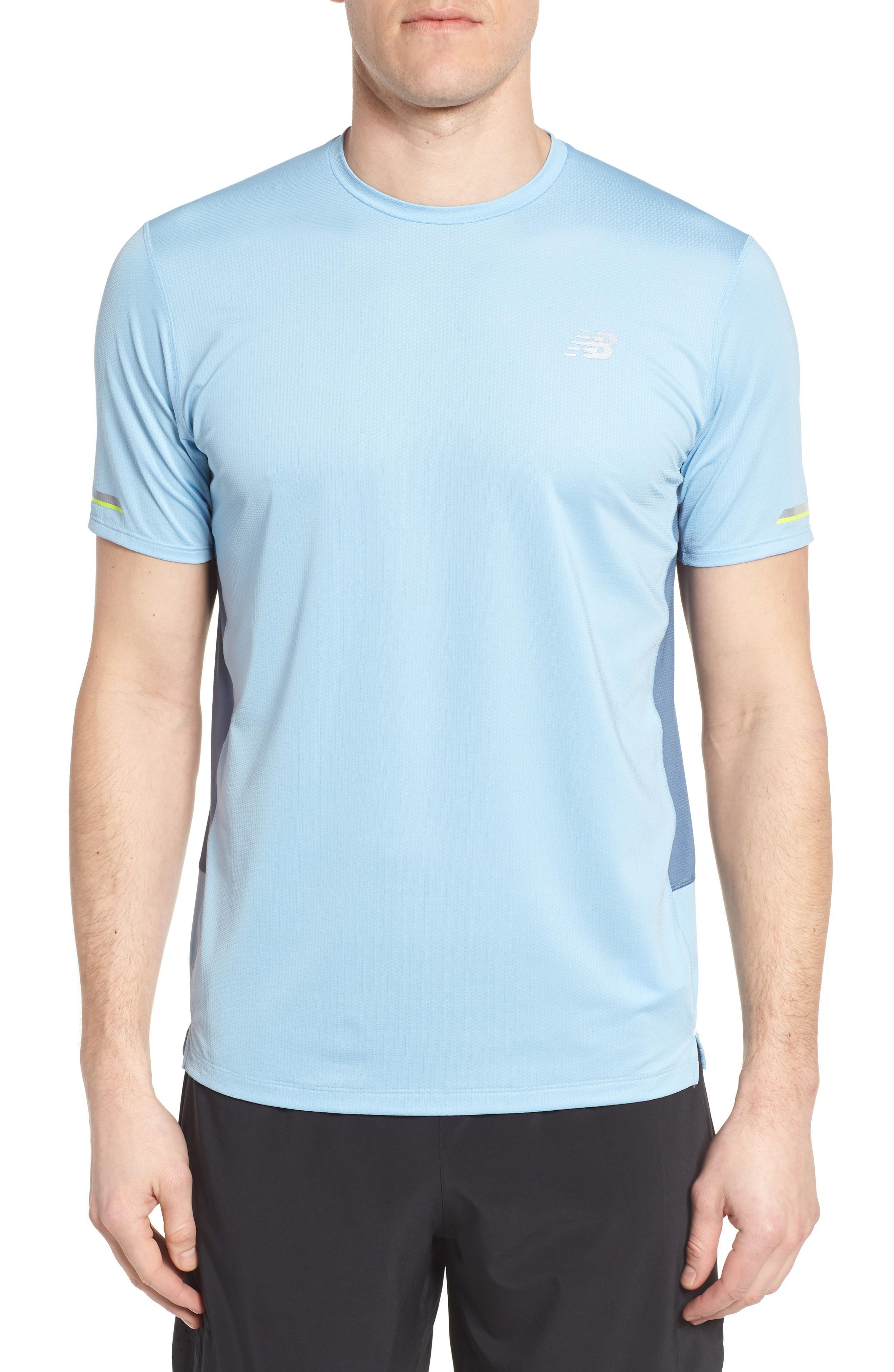 New Balance Ice 2.0 Crewneck T-shirt In Clear Sky