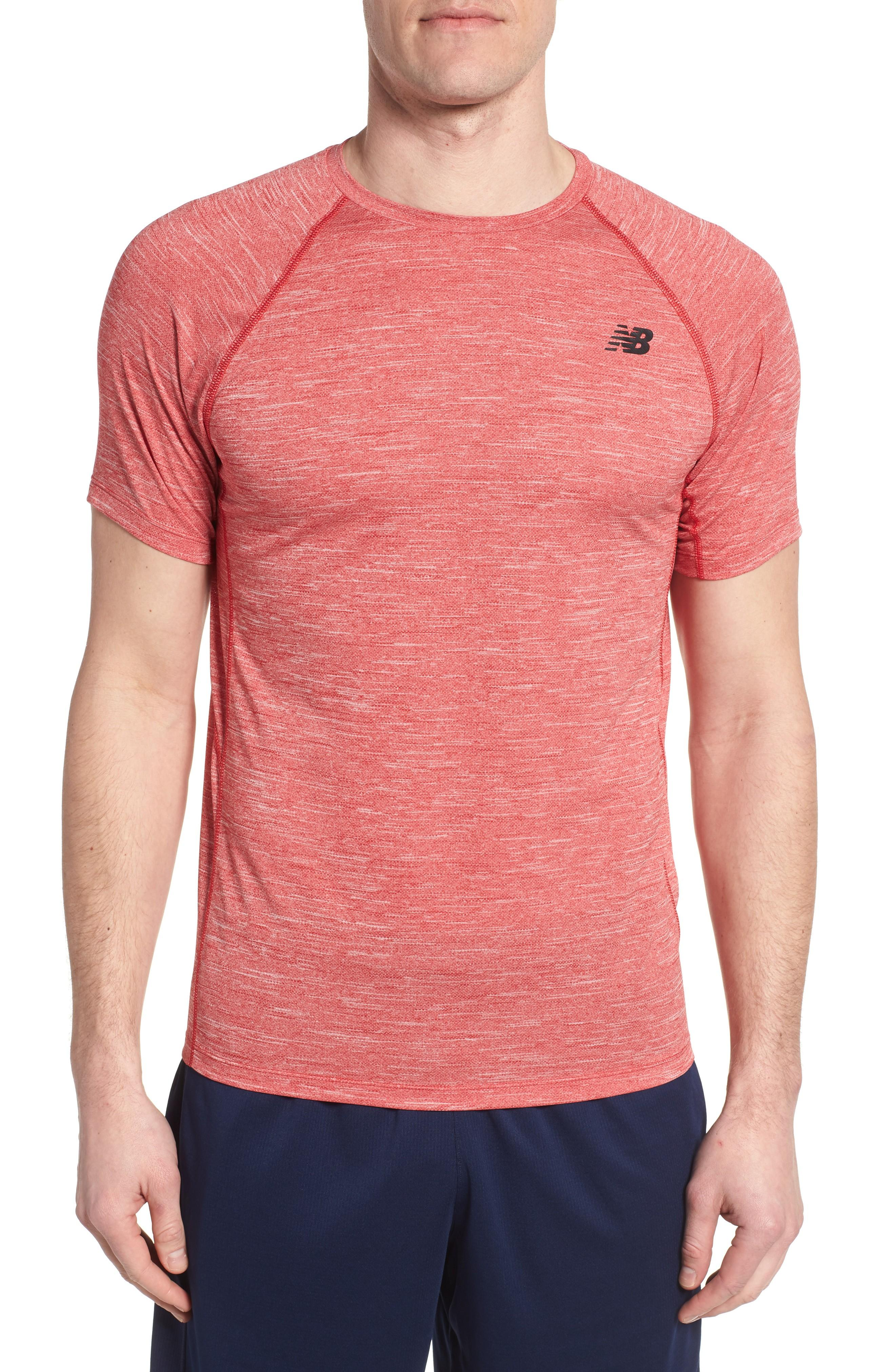 New Balance Tenacity Crewneck T-shirt In Team Red