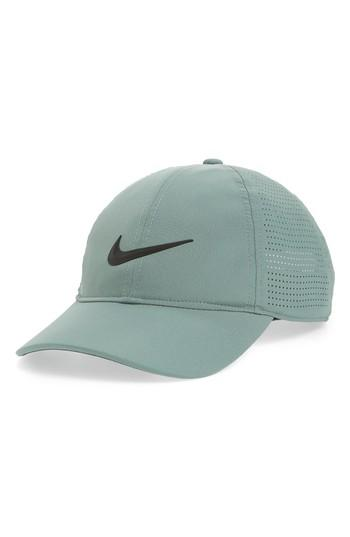 Nike Arerobill Legacy91 Performance Golf Cap - Green In Clay Green/ Anthracite/ Black