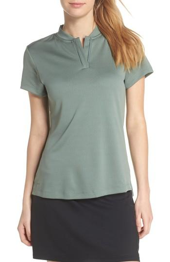 Nike Dry Gold Polo In Clay Green/ Black