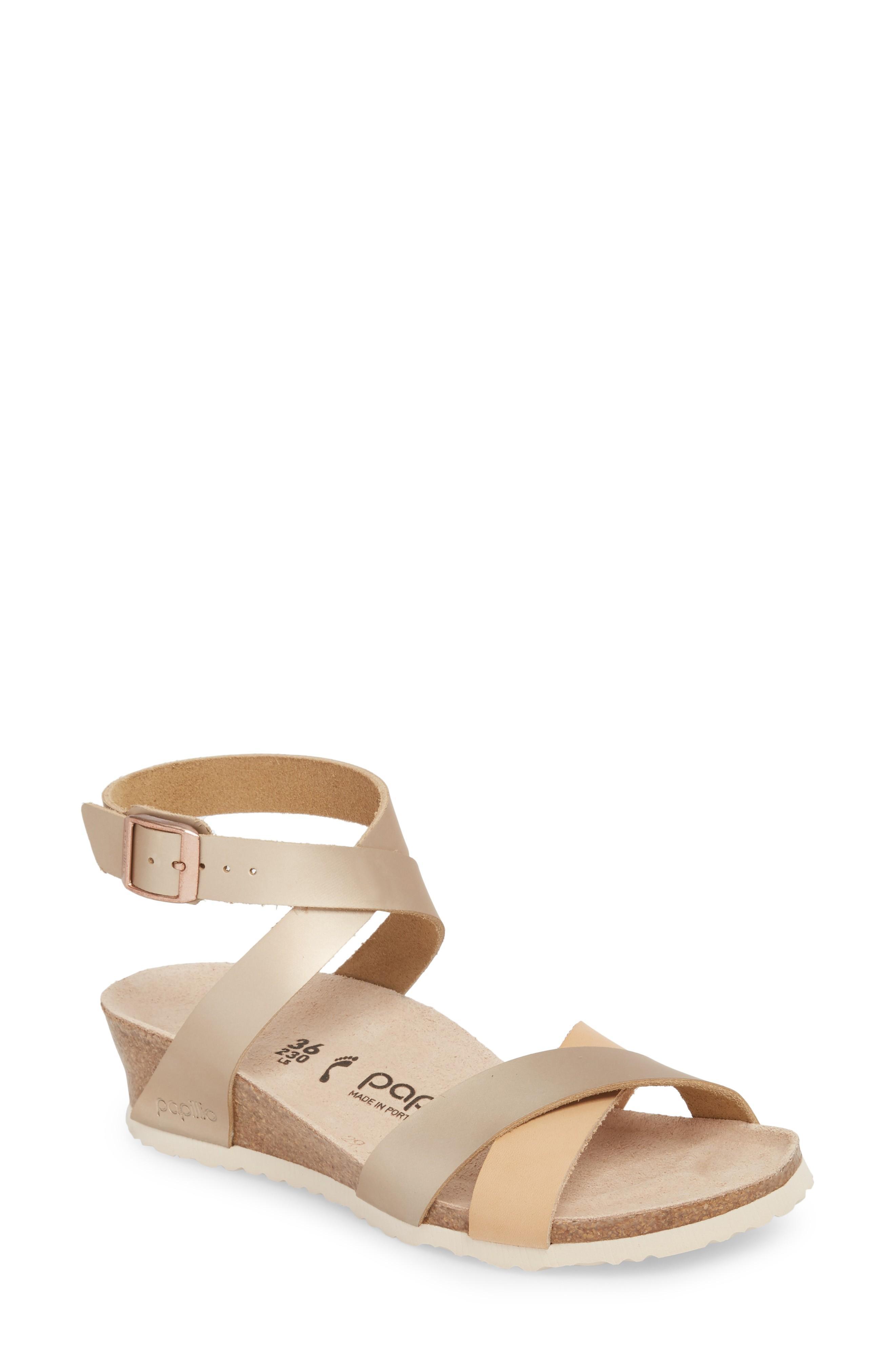 cf52df3128 Birkenstock Lola Wedge Sandal In Frosted Metallic Rose | ModeSens
