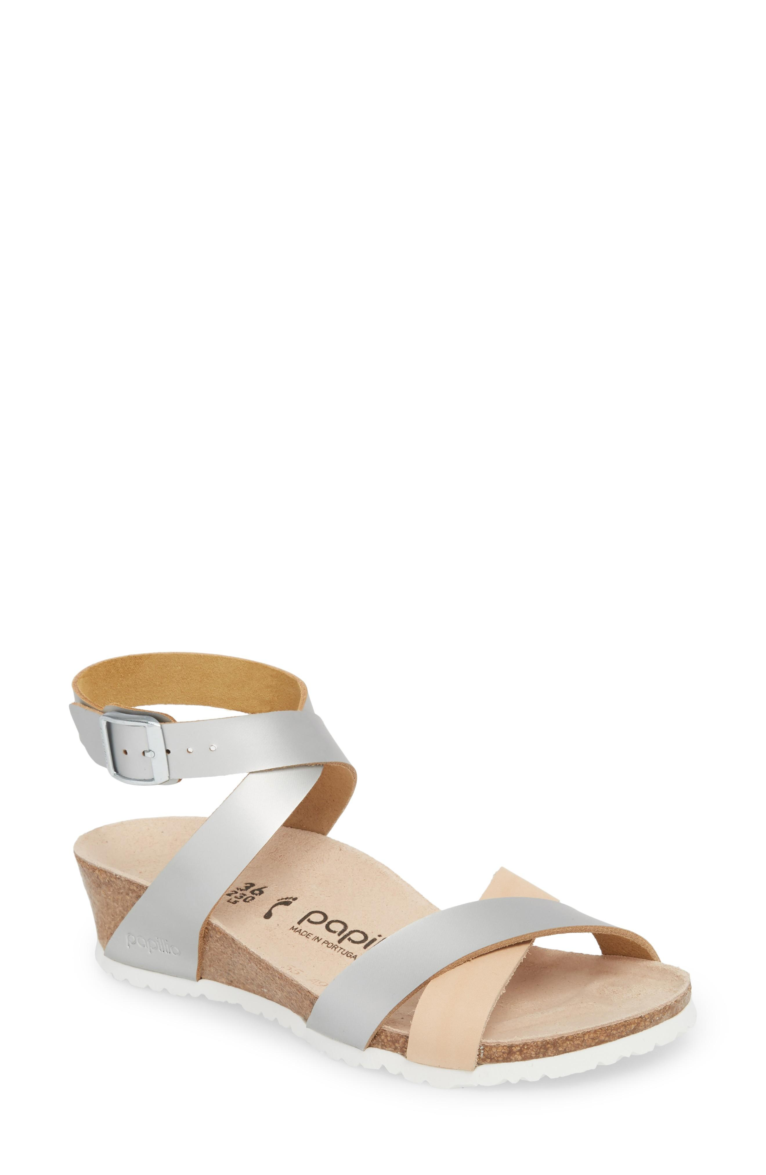 936b791ad Birkenstock Lola Wedge Sandal In Frosted Silver Leather | ModeSens