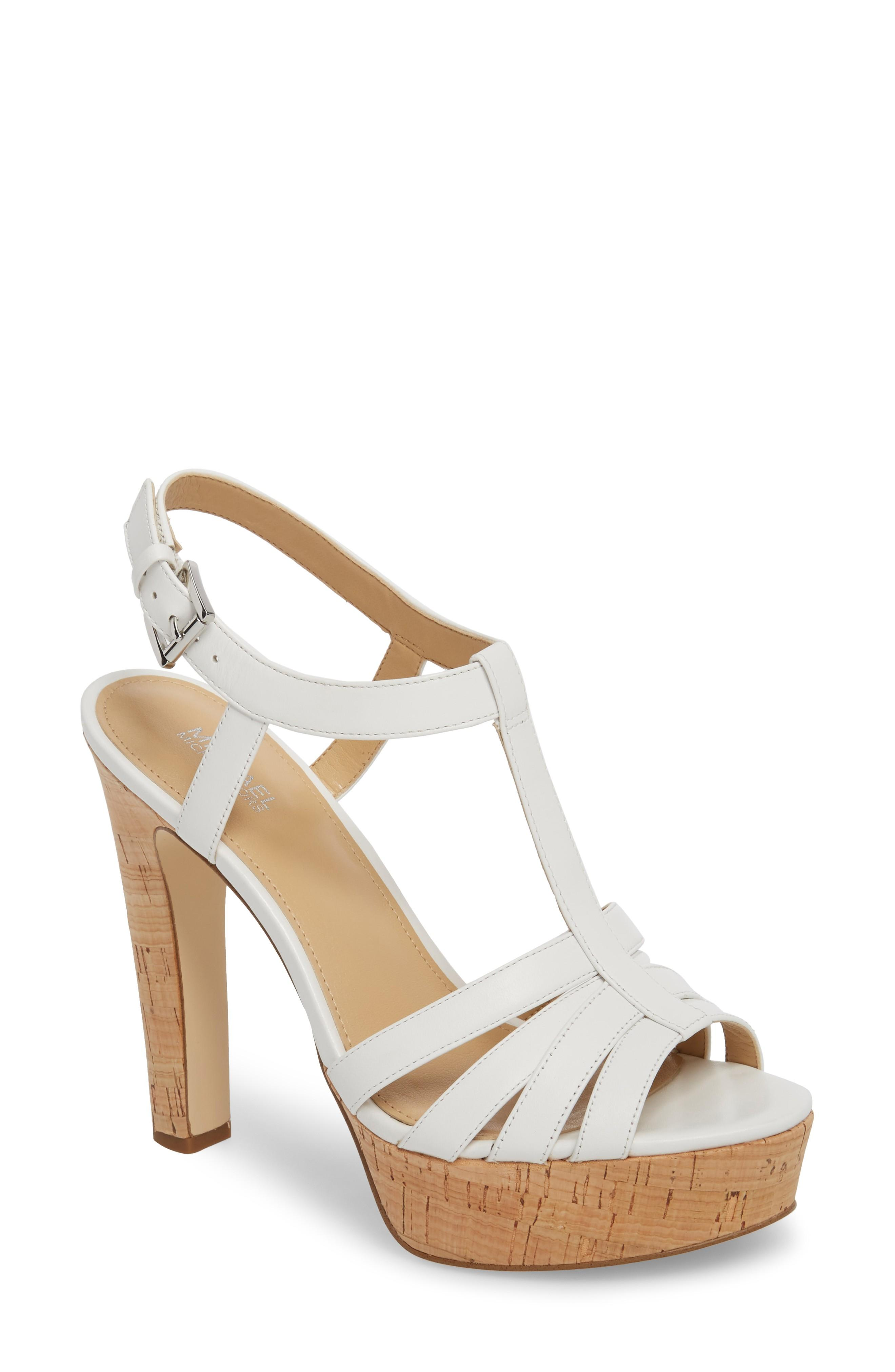 76c7cfefcf Michael Michael Kors Catalina Platform Sandal In Optic White | ModeSens