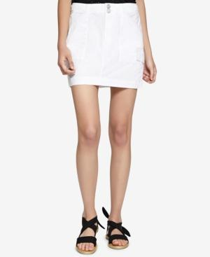 Sanctuary Forward March Cotton Utility Skirt In White