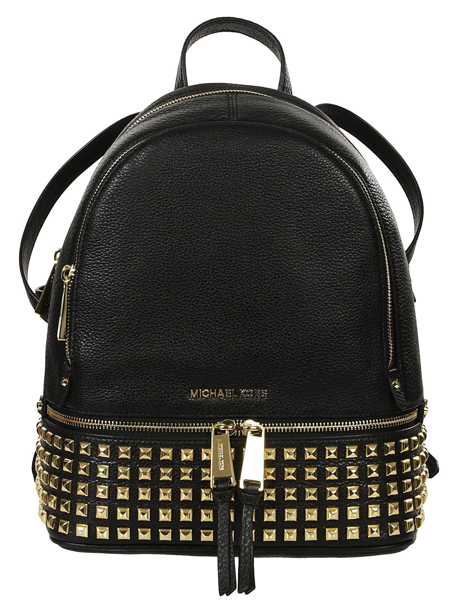 Michael Kors Rhea Studded Backpack In Black