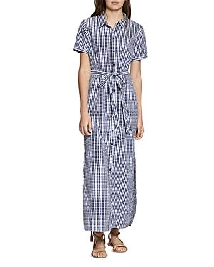 Sanctuary Blue Dawn Cotton Gingham Shirtdress In Blue Gingham