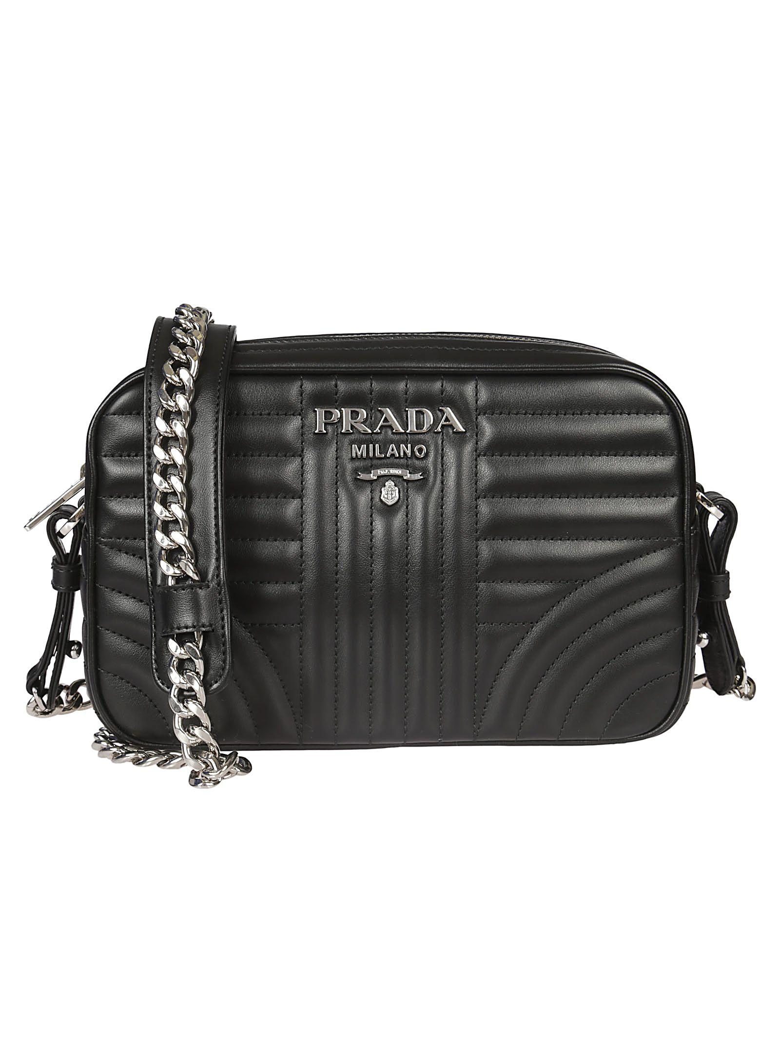 Prada Beveled Camera Shoulder Bag