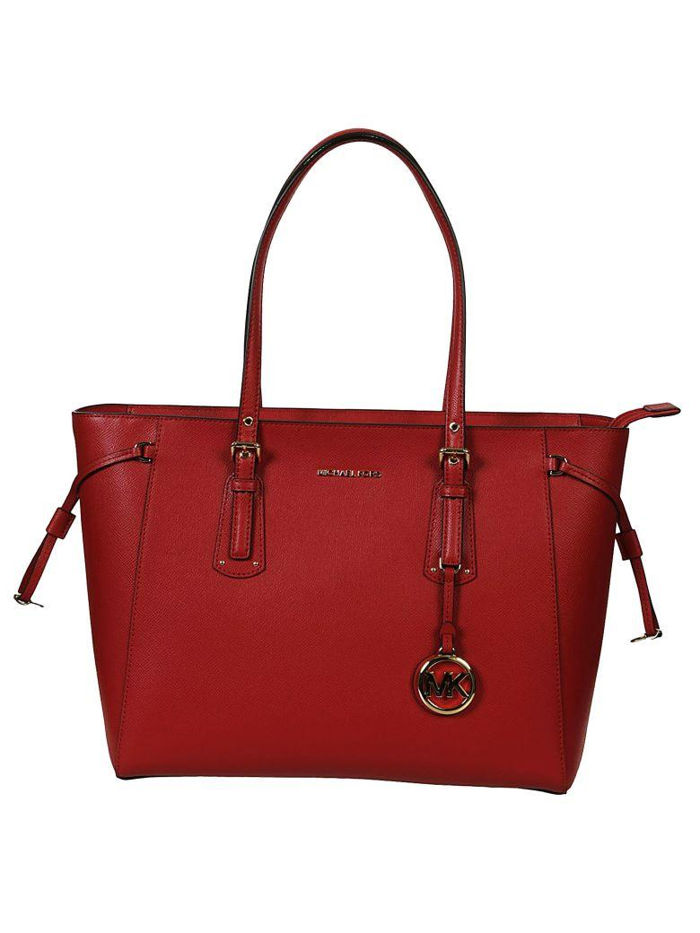 Michael Kors Voyager Tote In Red