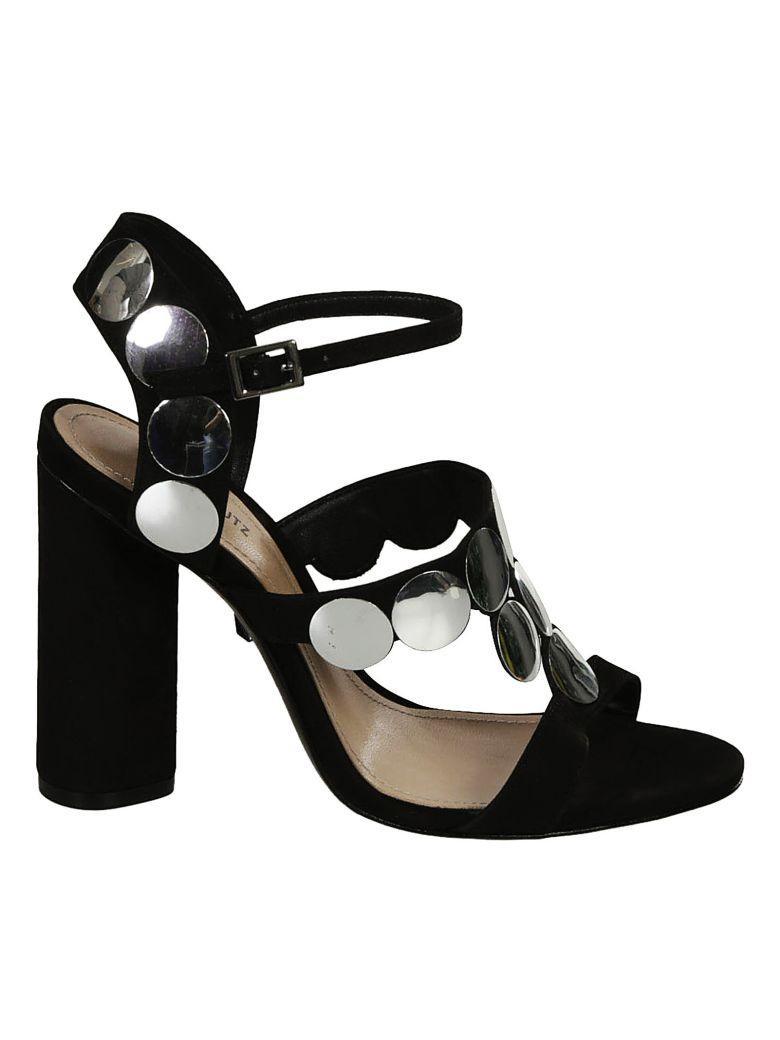 Schutz Studded Sandals In Black