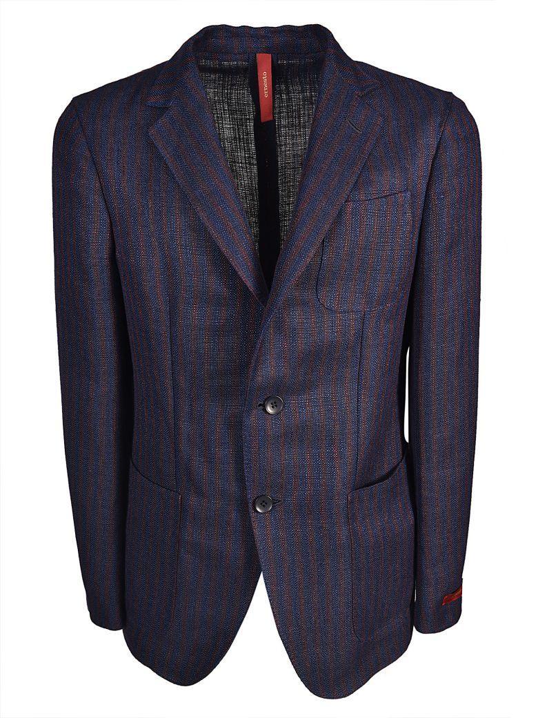 Ernesto Esposito Ernesto Striped Blazer In Blu Marrone