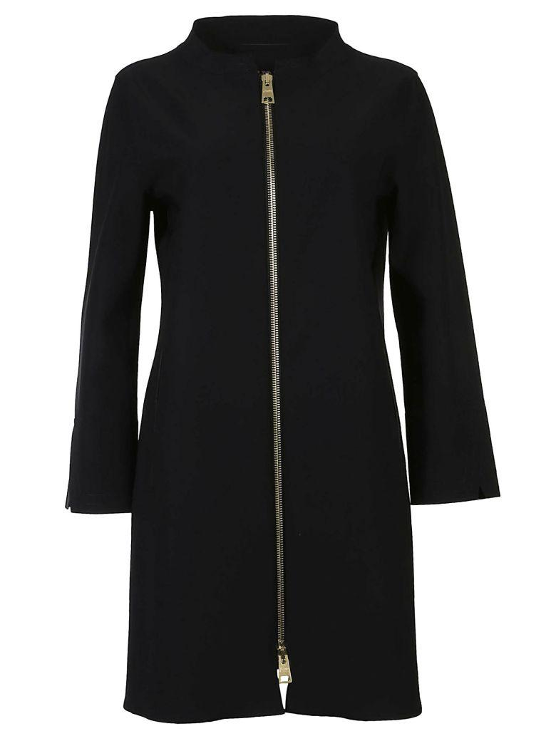 Herno Straight-fit Up Coat In Nero