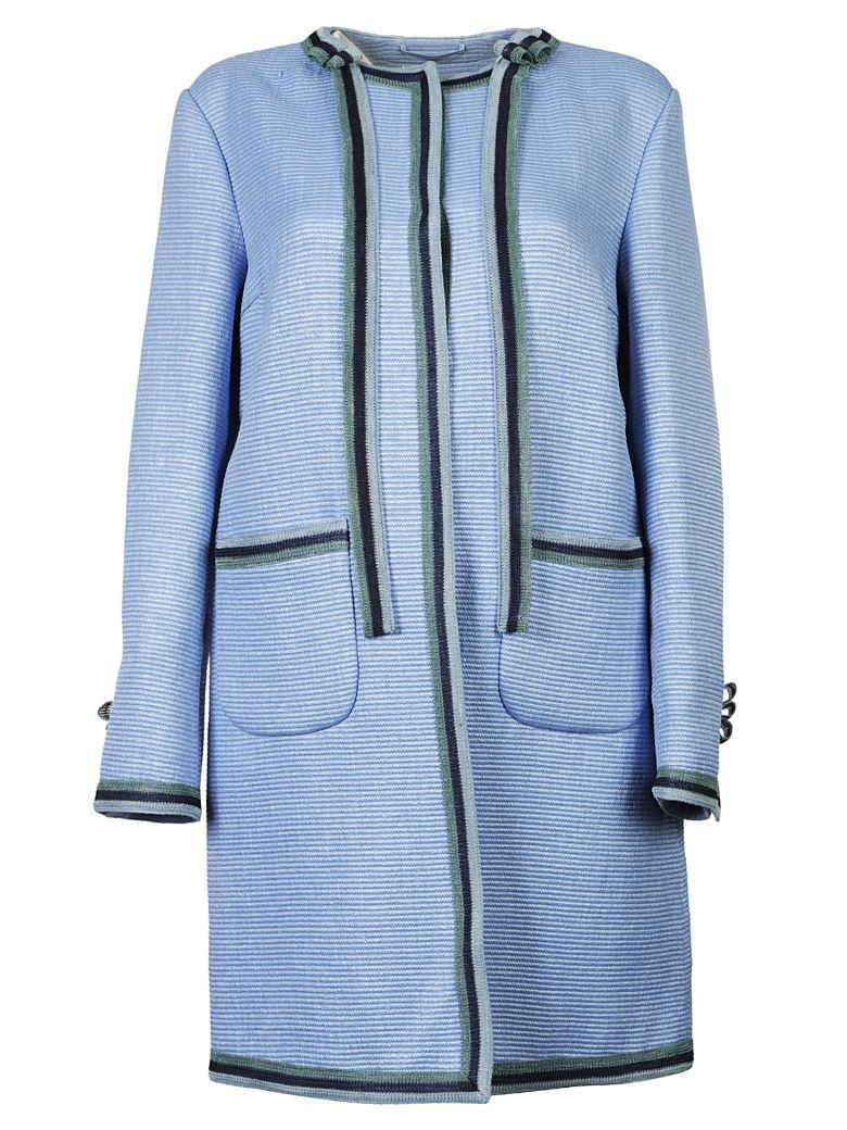 Ermanno Scervino Straight-fit Button Up Jacket In Azzurro