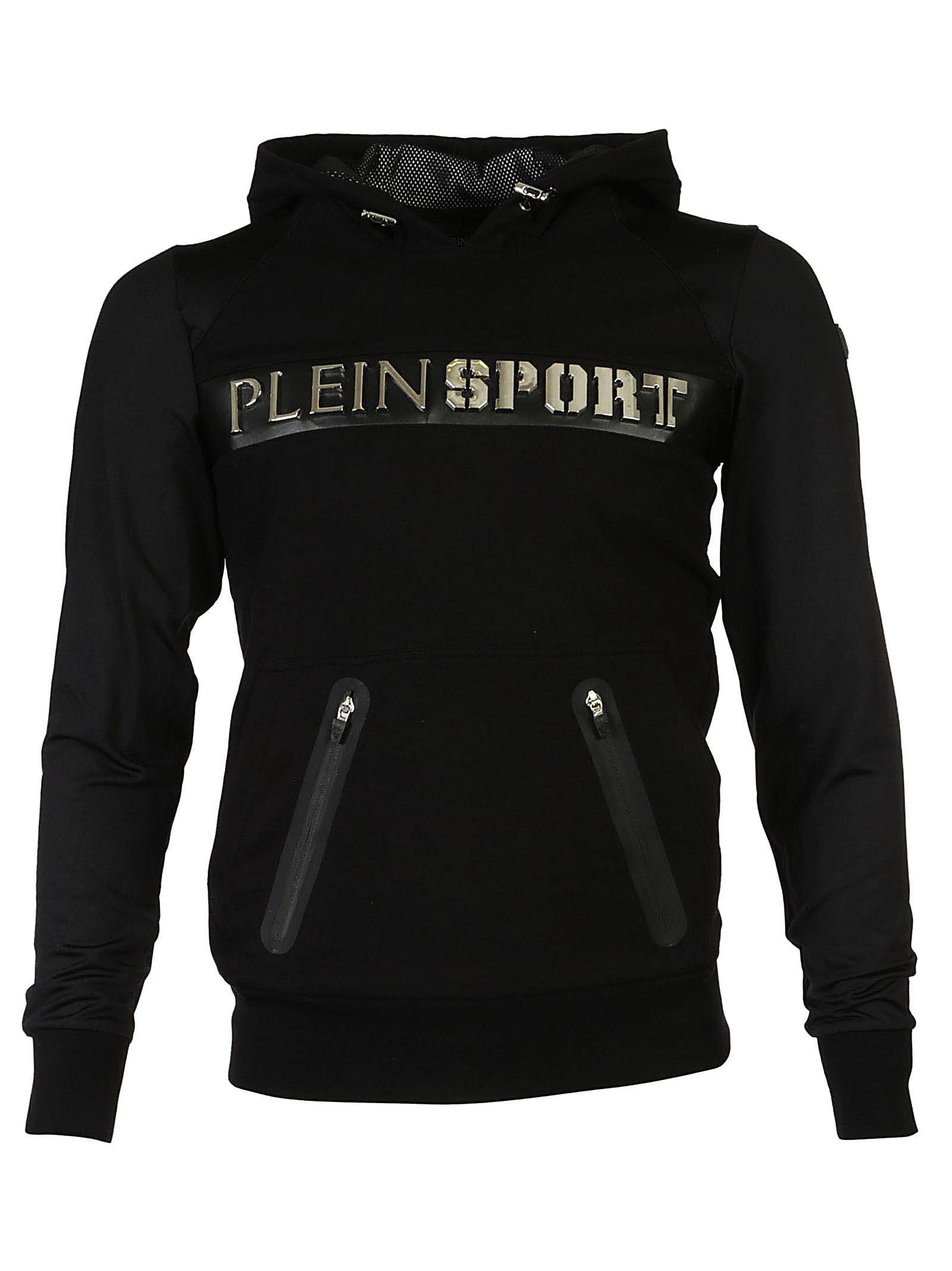 Philipp Plein Hooded Jacket In Nero