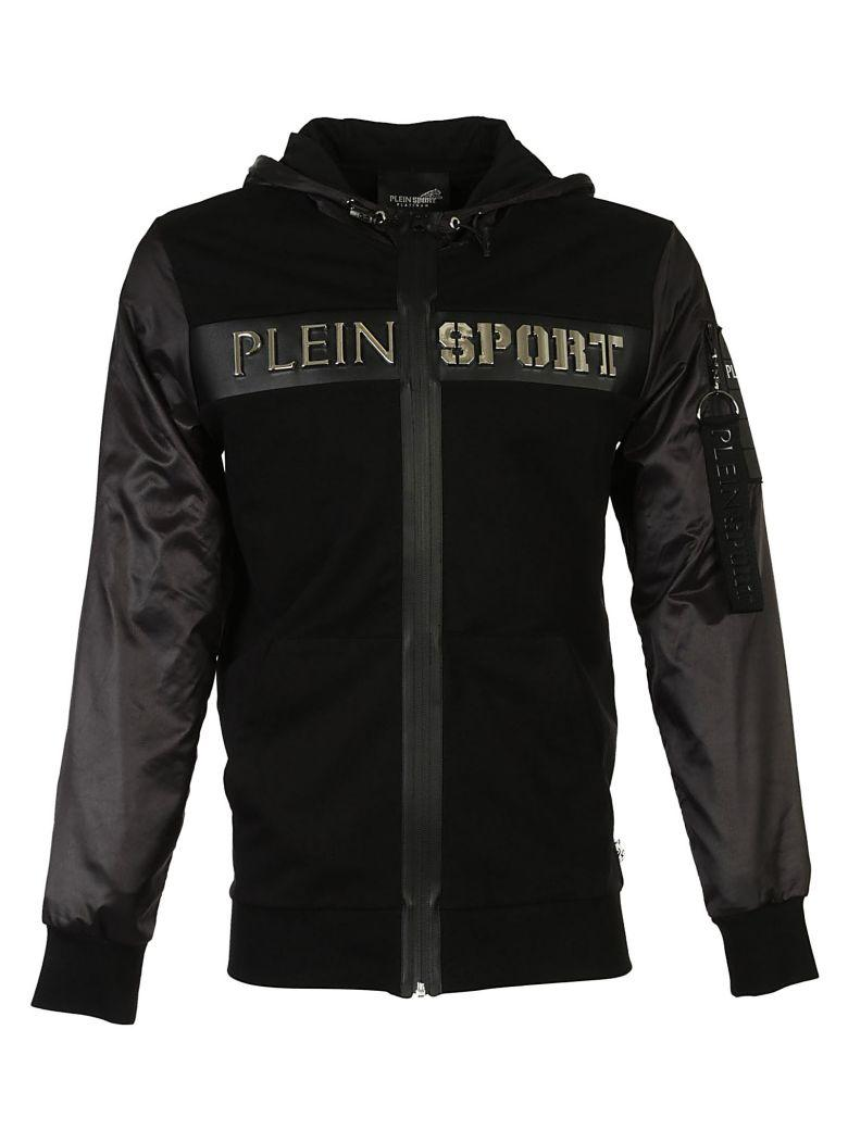 Philipp Plein Hooded Kevin Sweat Jacket In Black