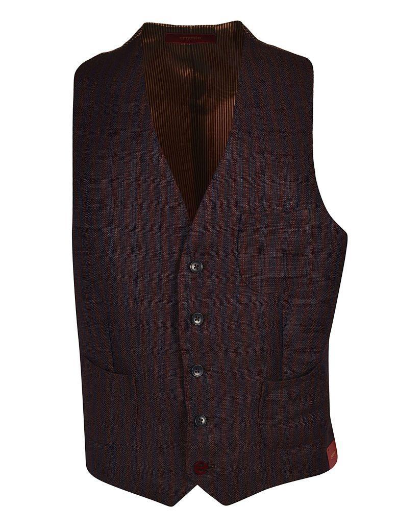 Ernesto Esposito Ernesto Striped Vest In Marrone Blu