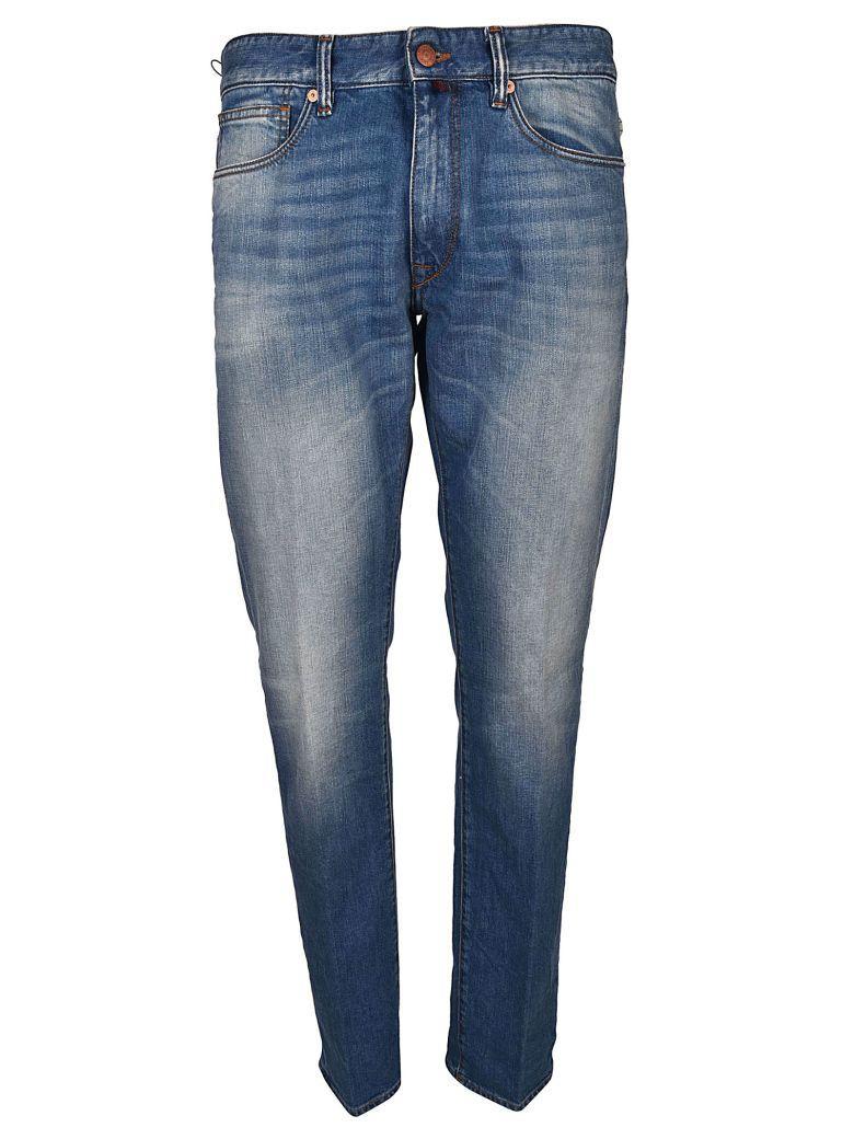 Incotex Slim-fit Denim Jeans In Blu Lavato