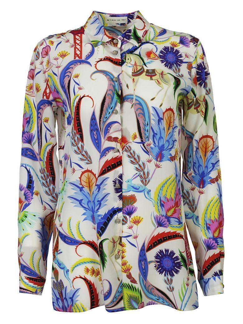 Etro All-over Printed Shirt In Vari Colori