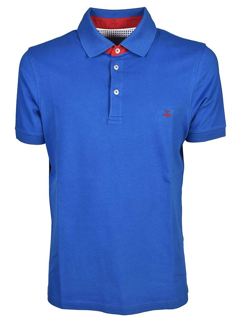 Fay Embroidered Logo Polo Shirt In Azzurro Intenso