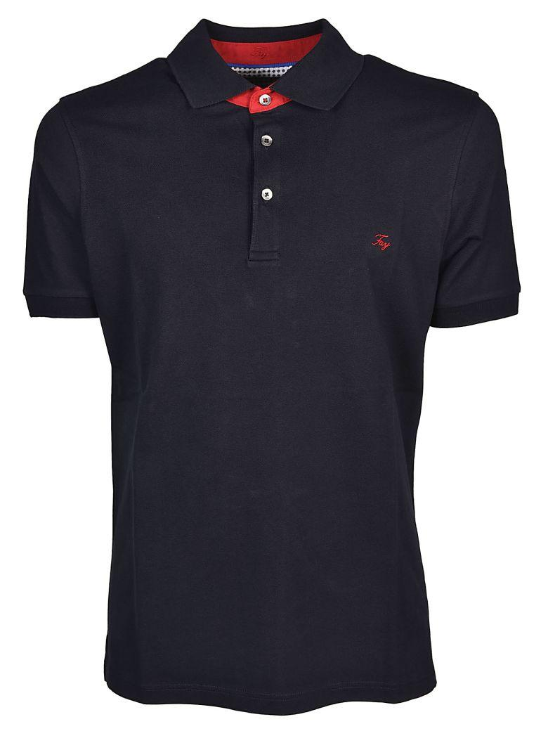 Fay Embroidered Logo Polo Shirt In Blu