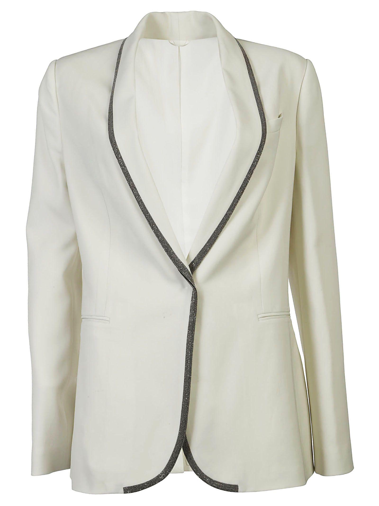 Brunello Cucinelli Branded Tuxedo In Bianco