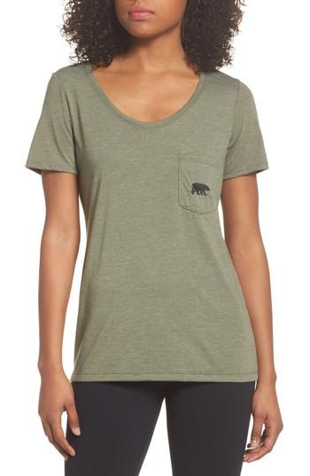 The North Face Triblend Pocket Tee In Four Leaf Clover Heather