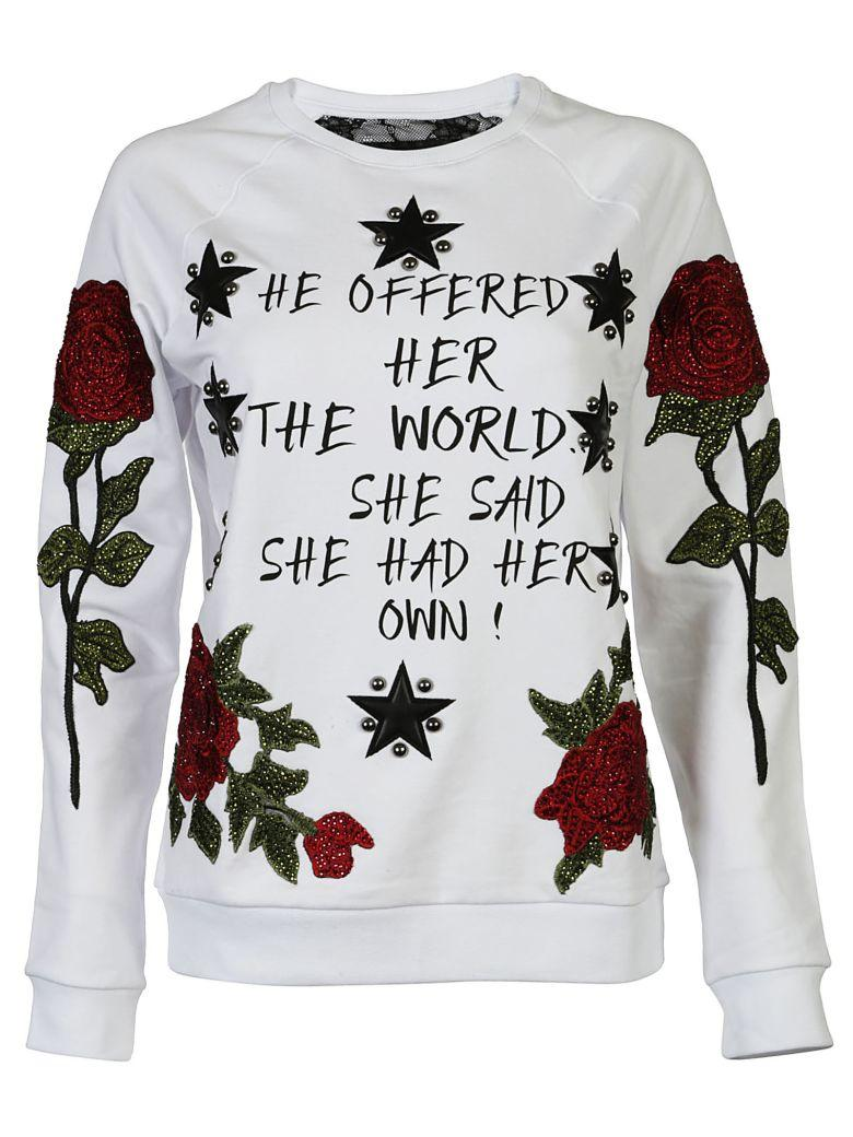 Philipp Plein Patches Sweater In White