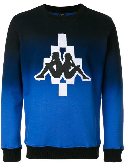 Marcelo Burlon County Of Milan Kappa Big Logo Sweatshirt In Black