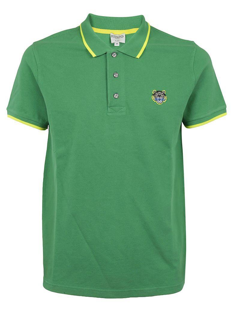 Kenzo Tiger Polo Shirt In Gazon