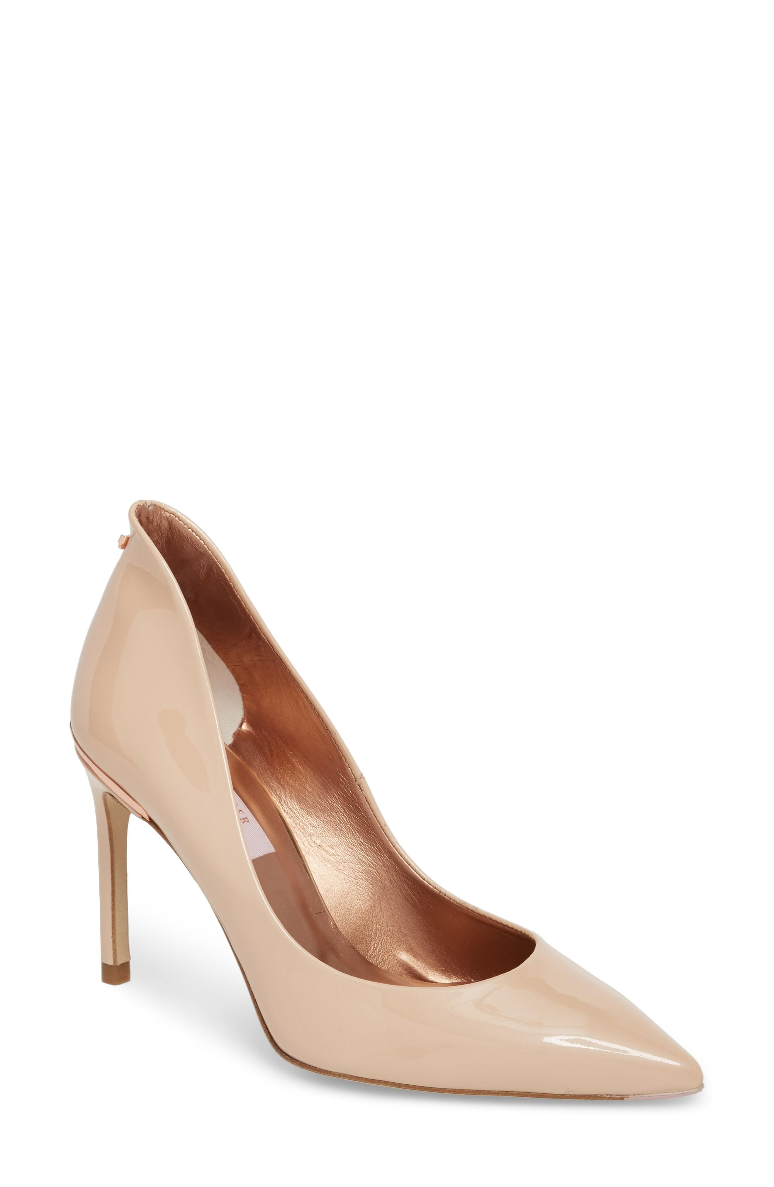 Ted Baker Savio Pump In Nude Patent Leather