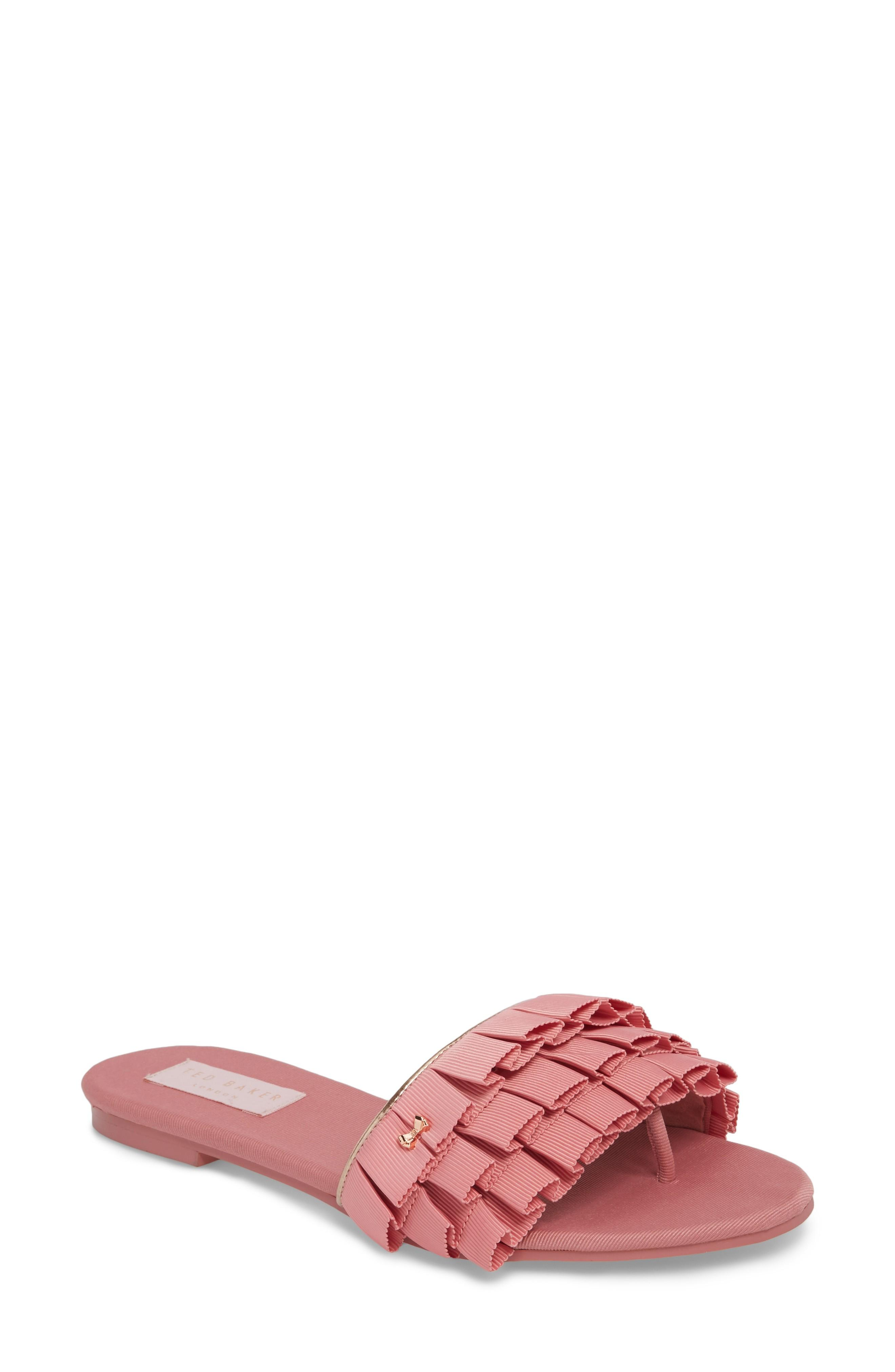 Ted Baker Towdi Sandal In Pink Fabric