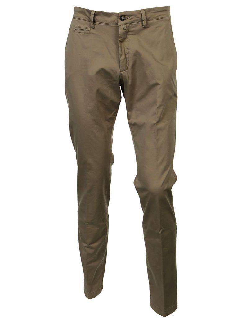 Briglia Fitted Trousers In Marrone